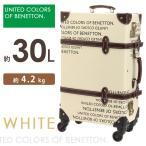 キャリーケース 機内持ち込み ベネトン トランクケース ホワイト 30L mサイズ かわいい おしゃれ スーツケース 4輪 旅行バッグ