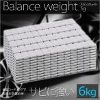 ホイールバランサー バランスウェイト 6kg(5g刻み) / 防錆樹脂コーティング