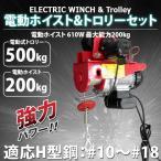 電動ウインチ 最大200kg& 電動トロリー500kgー 一体式 セット