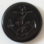 ボタン 手芸 通販  BF21-09(黒) 25mm / (アンカー・イカリ)プラスチックボタン