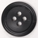 本水牛ボタン (ツヤ消し・ブラック) 23mm 1個入 天然素材 HB120-B (ジャケット・コート向) ボタン 手芸 通販