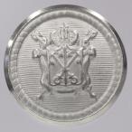 メタル(金属)ボタン 裏足付 23mm 1個入 (ホーニングニッケル) MA0190 HN (ジャケット・コート向) ボタン 手芸 通販