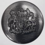 メタル(金属)ボタン 裏足付 25mm 1個入 (ブラックニッケル) MAZ0192 BN (ジャケット・コート向) ボタン 手芸 通販