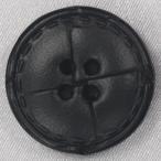 本革ボタン (黒) 20mm 1個入 (表・四つ穴)  天然素材 (レザーボタン) NO1500-5 (スーツ・ジャケット向) ボタン 手芸 通販