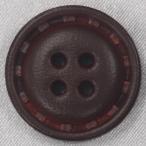 ショッピング本革 本革ボタン (茶) 25mm 1個入 (表・四つ穴)  天然素材 (レザーボタン) NO21-3 (ジャケット・コート向) ボタン 手芸 通販