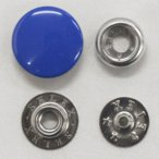 ドットボタン(ジャンパーホック)SELEX 15mm 青(つや有)xP-SSL(シルバー) キャップサイズ15mm 5セット入 しっかりした着脱感(ジャケット・コート向)
