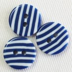 プラスチックボタン VE9542-1(青x白) 15mm 1個入 (柄・模様) ボタン 手芸 通販