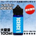 国産 電子たばこ VAPE 100ml   アイスアイス  ICEICE  超ハードメンソール  KAMIKAZE E-JUICE カミカゼ 補充 再生 電子煙草 特大サイズ リキッド 大容量 FLAVOR TECH フレーバーテック 正規品  ベイプマン VAPEMAN