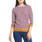 モドクロス ニット&セーター アウター レディース ModCloth Charter School Stripe Sweater (Regular & Plus Size) Purple Stripe