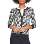 モドクロス ニット&セーター アウター レディース ModCloth Geo Floral Cotton Blend Cardigan (Regular & Plus Size) Black Print