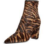 プラダ ブーツ&レインブーツ シューズ レディース Prada Tiger Genuine Calf Hair Pointy Toe Bootie (Women) Tiger Print