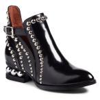 ジェフリー キャンベル ブーツ&レインブーツ シューズ レディース Jeffrey Campbell Rylance Studded Bootie (Women) Black Box Silver Leather