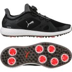 ショッピングプーマ シューズ プーマ シューズ メンズ ゴルフ PUMA IGNITE PWRADAPT DISC Golf Shoes BlackWhite