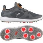 ショッピングプーマ シューズ プーマ シューズ メンズ ゴルフ PUMA IGNITE PWRADAPT DISC Golf Shoes GreyWhite