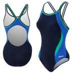 ドルフィン 上下セット レディース Dolfin Women's Chloroban Color Block DBX Back Swimsuit NvyBlGrn