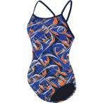 ドルフィン 上下セット レディース Dolfin Women's Predator V Back Swimsuit BlueOrange