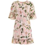 ドルチェ&ガッバーナ ワンピース レディース トップス Dolce & Gabbana Lily Print Cady Mini Dress GIGLIFDOROSAPink