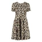 ユッカ ワンピース レディース トップス Jucca Leopard Print Cotton Dress Beige