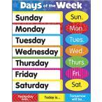 子ども用英語ポスター:DAYS OF THE WEEK (CHART) /曜日の名前