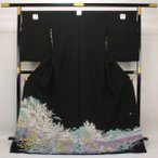 ◆本加賀友禅◆ 伝統工芸品 黒留袖 杉浦伸 作 「霞風景」 hm1674