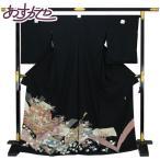 ◆本加賀友禅◆ 伝統工芸品 黒留袖 森村加泉作 「至宝興」 hm1677