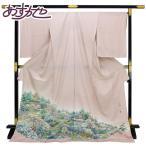 ◆本加賀友禅◆ 伝統工芸品 色留袖 多崎元人 作 「清庭」  hm1961