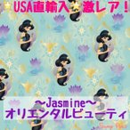 ディズニー プリンセス ジャスミン 〜Jasmine〜オリエンタルビューティー コットン100% 生地 布 ハギレ11cm 入学 入園 登園 女の子