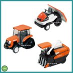 クボタ トラクター コンバイン 田植機 プルバックカー 農業機械 豪華3点セット ミニカー 玩具 チョロQ