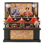 雛人形 雛 コンパクト収納飾り ひな人形 三段飾り 五人飾り 雅泉作 fzcp-45r1373skb
