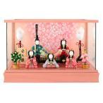 雛人形 一秀 ひな人形 雛 木目込人形飾り ケース飾り 五人飾り 木村一秀作 安土雛 14号 h023-ii-001