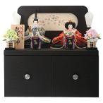 雛人形 コンパクト 久月 ひな人形 コンパクト収納飾り 親王飾り 束帯十二単姿 金襴 h283-kcp-s28101nr