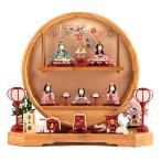 雛人形 コンパクト 一秀 ひな人形 雛 木目込人形飾り 五人飾り 木村一秀作 まどか飾り 安土雛 h283-mifz-ihr-500
