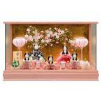 雛人形 一秀 ひな人形 雛 木目込人形飾り ケース飾り 五人飾り 木村一秀作 安土雛 16-5号 h023-ii-004