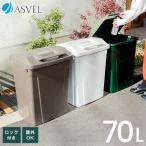 ゴミ箱 屋外 分別 SP ハンドル ペール 70リットル アスベル ASVEL おしゃれ 大型 大容量 70l 70L 蓋付き カラス対策 ベランダ 資源ゴミ ごみ箱