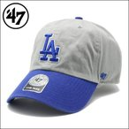 47 Brand フォーティーセブンブランド CLEAN UPキャップ DODGERS 47 CLEAN UP GRAY×ROYAL