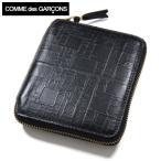 コムデギャルソン 財布 COMME des GARCONS 二つ折り財布 メンズ レディース ブランド ラウンドファスナー二つ折り財布エンボスロゴ SA2100EL
