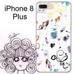 iPhone8 Plus スカラー ScoLar ケース カバー 猫とファッション グラフフィティ 猫柄 iphoneケース アイフォン かわいい デザイナー ブランド