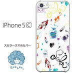 iPhone5c スカラー ScoLar ケース カバー 猫とファッション グラフフィティ 猫柄 iphoneケース アイフォン かわいい デザイナー ブランド