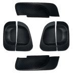 ショッピングハイエース ハイエース 200系 4型 パーツ ドアプロテクター ドアノブカバー ラバーカーボンタイプ 外装パーツ