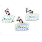 ショッピングハイエース 200系 ハイエース 200系 DX パーツ LED ルームランプ 3点セット 超高輝度 SMD135灯 車内泊 室内灯 全年式適合 内装パーツ