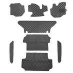 ショッピングハイエース ハイエース 200系 5型 フロアマット 標準用 黒×灰 1台分 8Pセット インテリアマット DX/SGL 内装パーツ