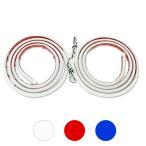 ショッピングLED LED テープライト シリコンチューブライト 120cm 2本セット 全3色 デイライト アイライン ポジションランプ LEDチューブ DIY カスタムパーツ