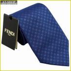 FENDI フェンディ ネクタイ 8cm ネイビー×レッド fxc147-56d-f0qb0