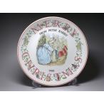 イヤープレート クリスマスプレート ウェッジウッド WEDGWOOD ピーターラビット 1988年 中皿 陶器 陶磁器 レトロ アンティーク ヴィンテージ 旧刻印 イギリス製