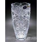 花器 花瓶 フラワーベース 容器 ブランド ボヘミアクリスタル PRAHA BOHEMIA CRYSTAL 最高級レッドクリスタルガラス インテリア 工芸品 おしゃれ カット 25cm