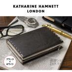 財布 二つ折り メンズ ブランド アウトレット キャサリンハムネット KATHARINE HAMNETT 牛革 本革 ラウンドファスナー カラーテーラード レザー 490-51913 黒