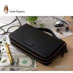 クラッチバッグ セカンドバッグ 長財布 ダブルラウンドファスナー 鞄 ポーチ メンズ レディース ブランド アウトレット 牛革 本革 ハッシュパピー HP2184 黒