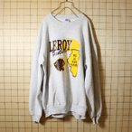 90's USA製 RUSSELL ATHLETIC 古着 プリント スウェット ライトグレー トレーナー メンズXL LEROY Panthers