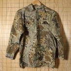 【Cabelas】USA製カベラス古着カモフラージュ迷彩総柄ハンティングシャツ・ネルシャツ|サイズS相当