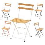 椅子 折りたたみ式 フェルモブ ベランダチェア 幅425x奥行430x高さ820mm ニチエス